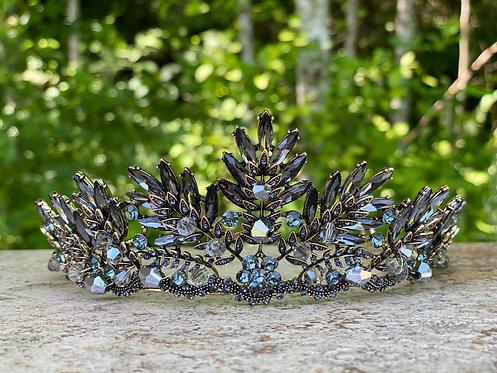Pewter Silver Leaf Tiara