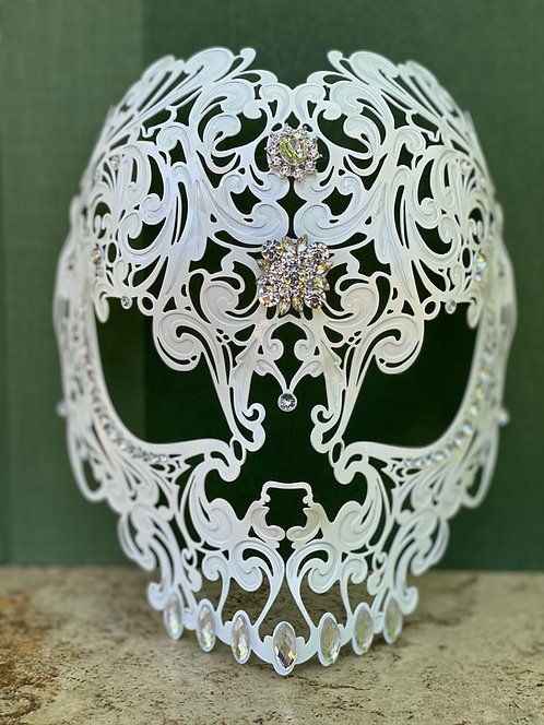 Dia De Los Meurtos Mask in White