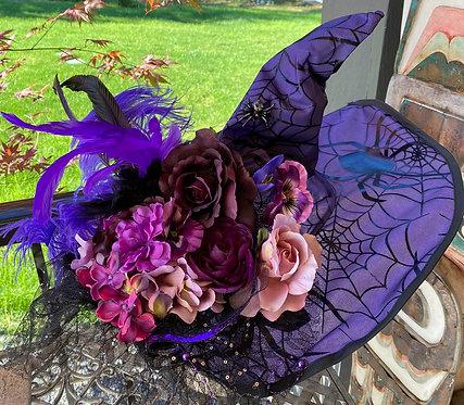 Purple Spider Witch Hat