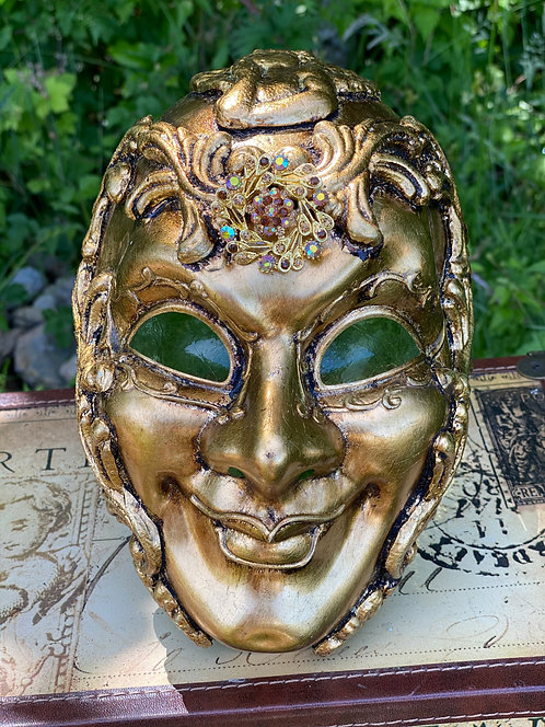 Gold Baroque Cherub Mask