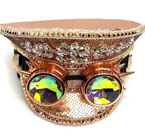 Pink SteamPunk Hat/Goggles