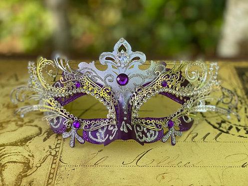Filigree Mask in Purple