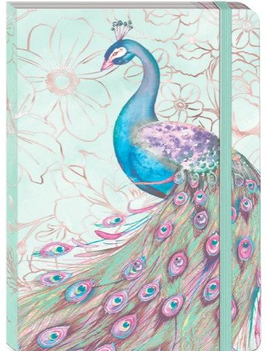 Mint Green Peacock Soft Cover Journal