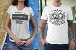 """Дизайн фирменных футболок """"Iptronic"""""""