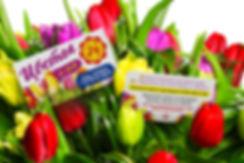 Визитная карточка для цветочного магазина