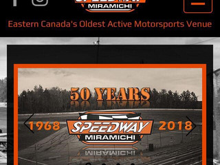Speedway Miramichi Waves the Green Flag on Brand New Website!