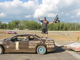 Harris Hauls Trailer Race Trophy Home; Benoit Bests Fifty in Demolition