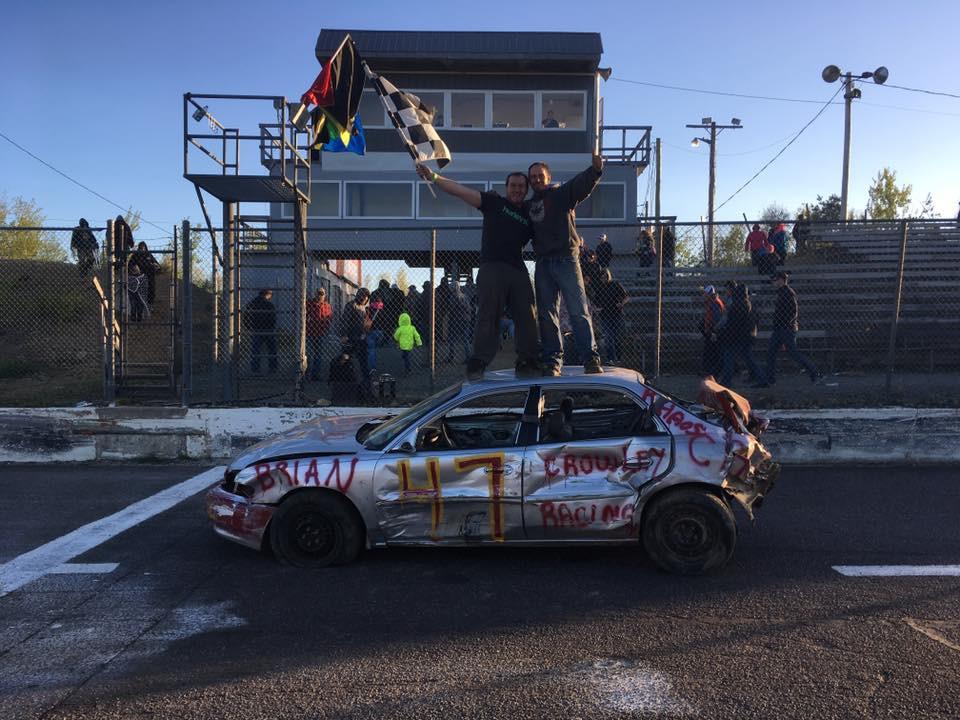 Marc Andre Benoit jumped behind the wheel of Julian Benoits car, and won the Spring Smash!