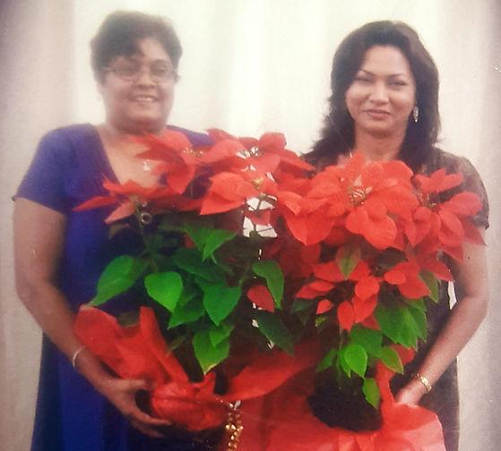 Ms. Phulmatie Bhimull (First Principal) and Mrs. Ann Marie Tawari (First Vce-Principal)