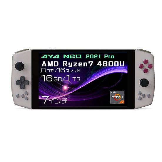 AYA NEO 2021 Pro レトロパワー 国内正規版 ポータブルゲーミングノートパソコン(Ryzen7 4800U/16GB/1TB)※先行予約