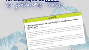 SINDEP/MG COBRA DA PREFEITURA DE BH CELERIDADE NA VACINAÇÃO DE TODOS OS POLICIAIS CIVIS