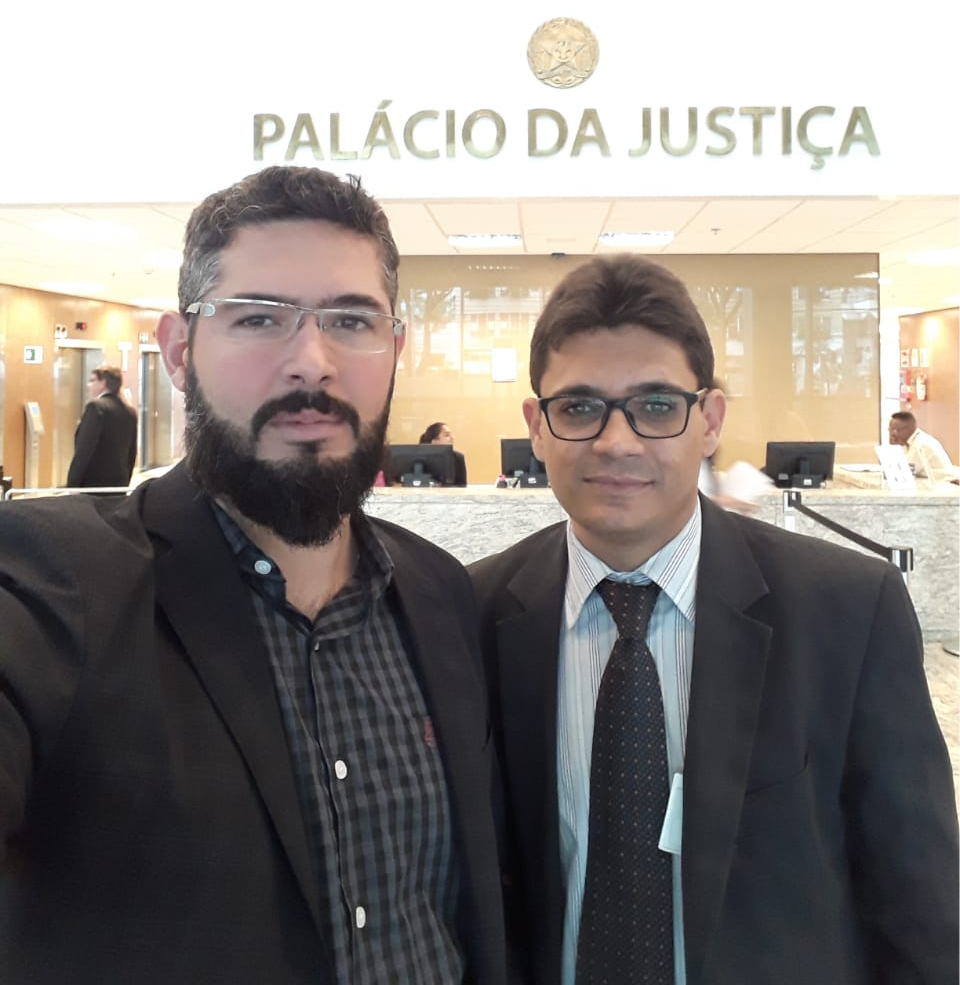 Presidente Bruno Viegas e Advogado Rodrigo Dumont