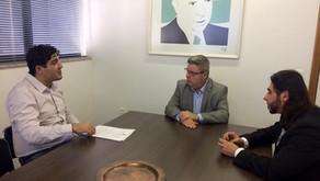 Diretores do SINDEP/MG se reúnem com senador Antônio Anastasia