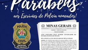 SINDEP PARABENIZA OS 76 ESCRIVÃES DE POLÍCIA NOMEADOS