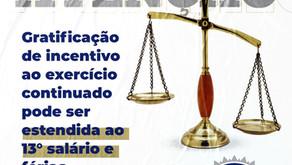 EXERCÍCIO CONTINUADO -  DIREITO DE 13º E 1/3 FÉRIAS