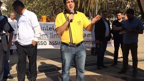 SINDEP/MG participa de manifestação contra atitude de descaso do Governo de Minas para com a PCMG