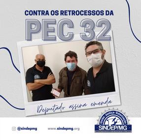 Deputado Reginaldo Lopes assina Emenda da PEC 32
