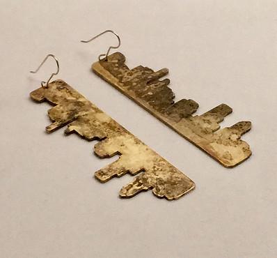 Amber Reflections Earrings