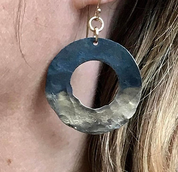 Metal Works Circle Earrings