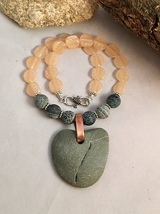 Rock Heart Love Necklace