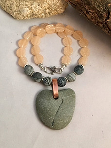 Rock Heart Love Necklace