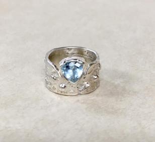 Custom Blue Stone Ring