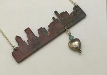 Heart of Portland Cityscape Necklace