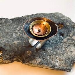 Layered Bowl Detail Ring