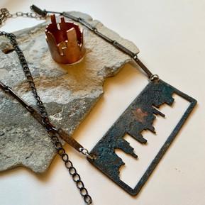 City Scape Necklace & Ring Set