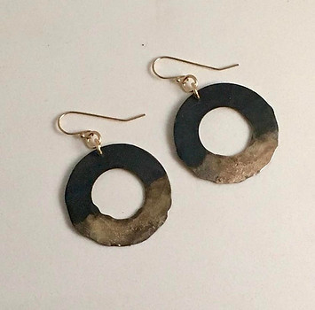 Modern Hoop Metal Earrings