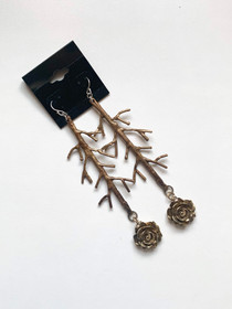 City Of Roses Drop Branch Earrings