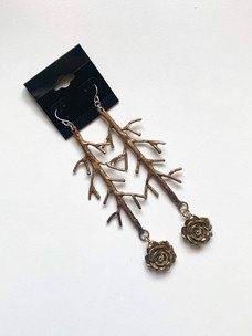 City Of Roses Drop Branch Earrings