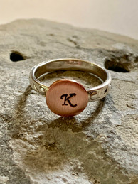 Stamped Initial Rings
