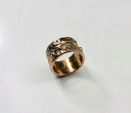 Textured Brass Ring