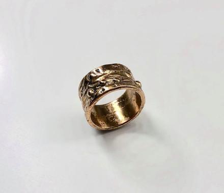 Textured Brass Ring