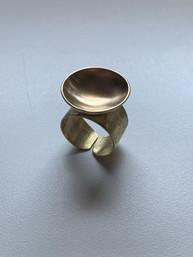 Golden Brass Bowl Ring