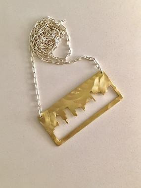 Golden City Girl Necklace