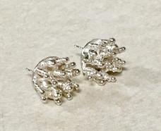 Silver Burst Stud Earrings