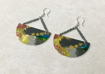 Half Moon Painted Earrings
