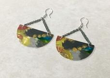 Half Moon Painted Earrings