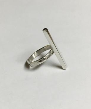 Contemporary Geometric Bar Ring