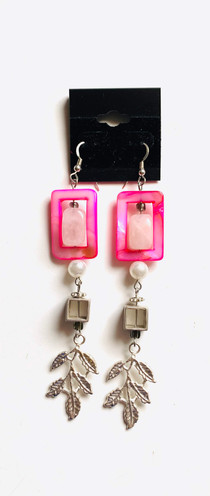 Pink Pop Pearls Earrings