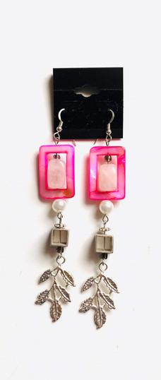 Pink Pop Pearls Earrings