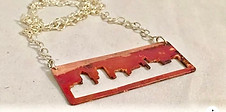 Portland Punch Out Cityscape Necklace