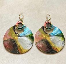 Hand Painted Metal Earrings