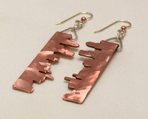 Portland Skyline Copper Earrings