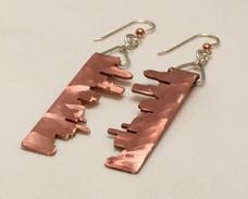 Portland Skyline Copper Earrings