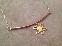 Suspended Flower Necklace