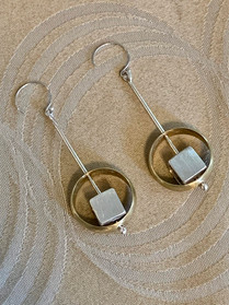 Enclosed Drop Earrings