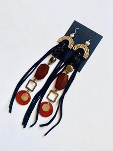 Orange Glow Fringe Earrings